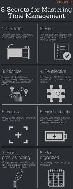 8 Tips for Time Management Success (Infographic) - The Muse