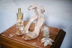 gold sandals for 20s wedding