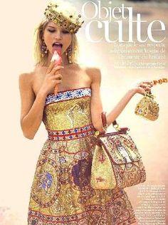 Byzantine inspiration by Dolce & Gabanna: Vogue France-Septembre 2013 Dolce & Gabbana, Vogue Paris, Vogue Fashion, High Fashion, Spring Fashion, Provocateur, Mode Inspiration, Fashion Stylist, Passion For Fashion