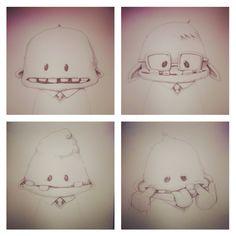 Yearbook Monster series  Montassj Art Ink