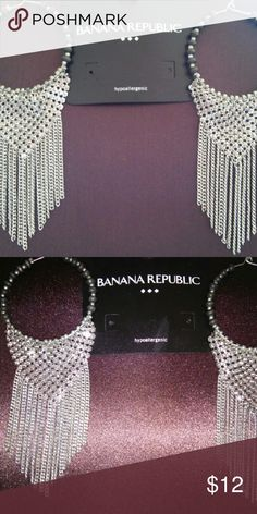 BANANA REPUBLIC EARRINGS See pics for size Banana Republic Jewelry Earrings