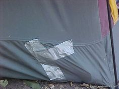 Patch up holes and leaks in your survival tent with duct tape