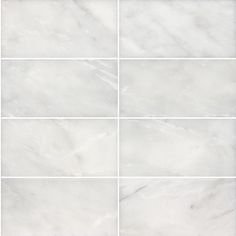 8-Pack 3-in x 6-in Venatino Polished Marble Natural Stone Subway Wall Tile (Actuals 3-in x 6-in) 5.98 sq ft, color tones vary from dark grey to almost white, have to sort through