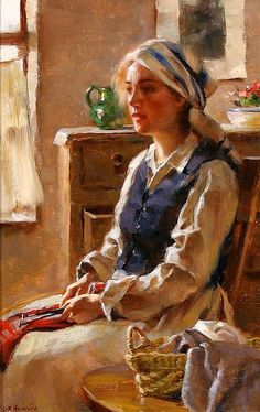 Gregory Frank Harris (American, 1953) - A Moments Reverie