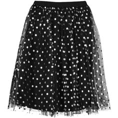 Boohoo Shea Metallic Polka Dot Tulle Skirt | Boohoo ($21) ❤ liked on Polyvore featuring skirts, metallic skirt, polka dot skirt, pleated maxi skirt, mini skirt and pleated skirt