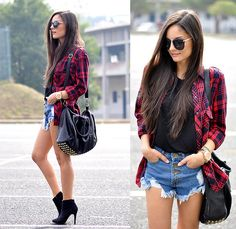 Find images and videos about girl, fashion and outfit on We Heart It - the app to get lost in what you love. Outfits For Teens, Summer Outfits, Casual Outfits, Cute Outfits, Girl Fashion, Fashion Looks, Fashion Outfits, Outfits Con Camisa, Only Shorts