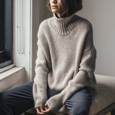chunky knit high neck sweater