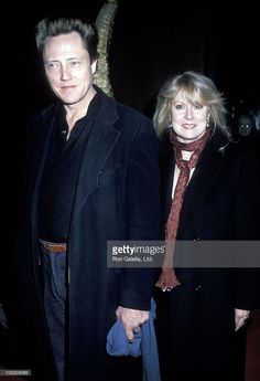 <a gi-track='captionPersonalityLinkClicked' href=/galleries/search?phrase=Christopher+Walken&family=editorial&specificpeople=209174 ng-click='$event.stopPropagation()'>Christopher Walken</a> and Georgianna Walken during 'We're No Angels' New York Premiere - December 13, 1989 at The Morgan Hotel in New York City, New York, United States.
