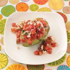 Tomato Salad-Stuffed Avocados Recipe