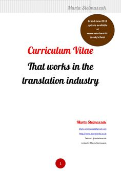Resume Translation Learning How To Manage Translation Projects Is Something Every
