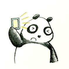 【一日一大熊猫】 2015.3.18 パソコンや携帯電話を長時間使う人は 明るさ調整をしっかりすると疲れ方が違うよ。 #pandaJP