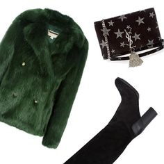 👢💚 Shop the trend in your size on EyeFitU 📲💻 My Size, Ysl, Fur Coat, Ootd, Goals, Trends, Photo And Video, Winter, Shop