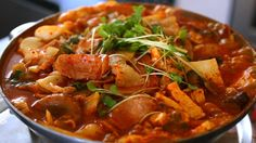 "Full recipe: http://www.maangchi.com/recipe/budae-jjigae Hello everybody! Today I'm showing you the recipe for a much-requested dish: Budae-jjigae a.k.a ""Arm..."