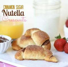 Cinnamon Sugar Nutella Crescent Rolls.  A simple and delicious Mother's Day dessert that even the kids can handle!