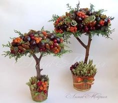 Best 12 How to make topiary. Christmas Wreaths, Christmas Crafts, Christmas Decorations, Holiday Decor, Fall Crafts, Diy And Crafts, Fall Flower Arrangements, Fleurs Diy, Deco Nature