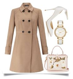 """""""Double Breasted"""" by easy-dressing ❤ liked on Polyvore featuring Miss Selfridge, Dolce&Gabbana, Jimmy Choo, Michael Kors, WhatToWear, coat and polyvoreeditorial"""