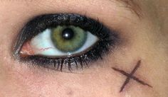 Pirate makeup ....Would love to do the X. Don't want to seem too much like Jack Sparrow though. (And technically THIS makeup WAS inspired by him.) But I think it's a great pirate look. Hmmm..