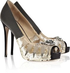 VALENTINO Embellished Mesh Pumps   dressmesweetiedarling