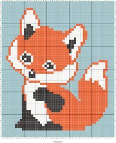 fox c2c baby blanket