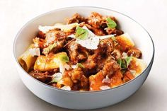 Mid week lamb ragu - turn lamb sausages into hearty ragu in this delicious 30 minute meal. Lamb Recipes, Pasta Recipes, Dinner Recipes, Cooking Recipes, Dinner Ideas, Savoury Recipes, Healthy Recipes, Family Recipes, Easy Cooking