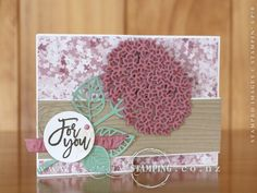 A Z-Fold Pop-Up card featuring a beautiful hydrangea from the Thoughtful Branches Bundle.  This limited-time bundle is only available in August.  www.creativestamping.co.nz | Stampin' Up!
