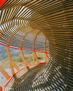 Spiraling 'Evolver' Viewing Platform By EPFL Students