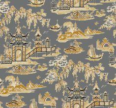 WC7555 Waverly Classics Volume II Peaceful Temple Wallpaper | The Fabric Co