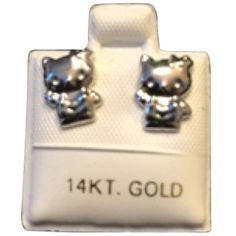 Pre-owned Hello Kitty Jewelry ($134) ❤ liked on Polyvore featuring jewelry, accessories, holiday jewelry, 14k jewelry, 14k white gold jewelry, pre owned jewelry and cocktail jewelry