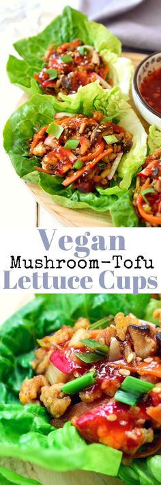 These vegan mushroom tofu lettuce wraps are an easy, light and delicious meal that can be ready in 20 minutes. They're bursting with freshness from the crisp lettuce and meatiness from the tofu and mushrooms. It's all balanced out with an umami-rich dress
