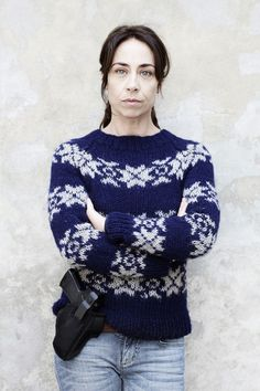 Knitted jumpers with flare- Sarah Lund in The Killing