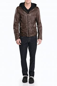 #Mackage Jarell leather jacket in Forest