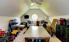 Attic converted into playroom