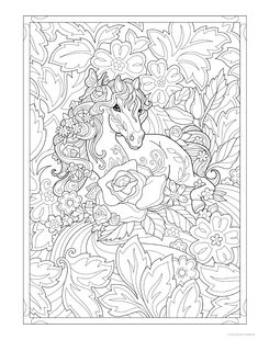 Creative Haven Dream Horses Coloring Book Horse Coloring Pages, Unicorn Coloring Pages, Cute Coloring Pages, Mandala Coloring Pages, Coloring Books, Detailed Coloring Pages, Printable Adult Coloring Pages, Colorful Drawings, Illustrations