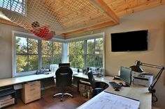 Architect's Studio - transitional - Home Office
