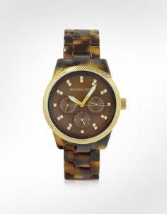 Michael Kors Jet Set - Reloj de Acero y Efecto Carey