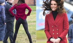 The Duchess of Cambridge, 35, will have the chance to take the controls of a flight simulator during her visit to an RAF base today to meet local air cadets.