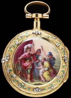 Enamelled And Diamond-Set Gold And Silver And Engraved Brass Made By Jean Fazy - Geneva, Switzerland   c.1770-1780
