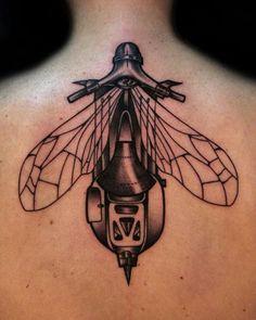 A little bit Steam punk bug tattoo