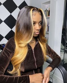ombre human lace front wig