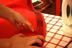 Stiffening a hem with horsehair braid. Great tutorial!
