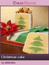 Christmas tree in the cake!