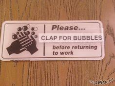 LMAO!!! Clap for those bubbles | #bubbles, #clap, #sign, #funny