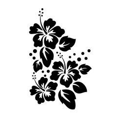 Buy Large Hibiscus Flowers Wall Decal from Dana Decals. Stencil Patterns, Stencil Designs, Wall Patterns, Flower Patterns, Damask Stencil, Flower Wall Decals, Vinyl Wall Decals, Vinyl Art, Wall Stickers