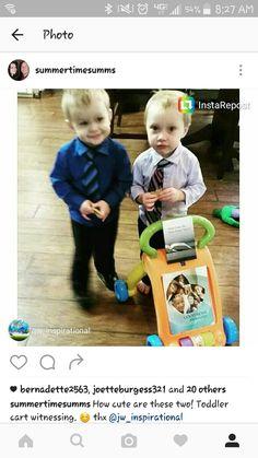 Toddler cart witnessing #jw