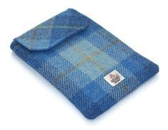 Kindle Keyboard Case Harris Tweed Blue Skies £22.50