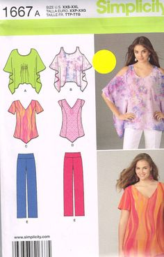 Simplicity 1667 Sewing Pattern Misses Dresses Size by OhSewWorthIt, $5.95