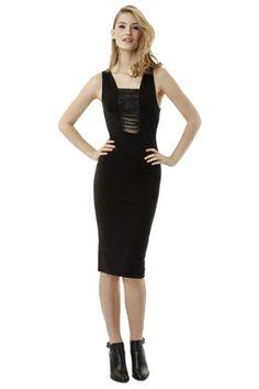Black Bodycon Dress TALLY WEiJL