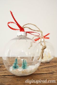 How to Make DIY Snow Globe Ornaments - with tips and tricks