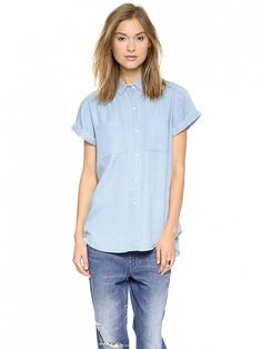 AYR The Everywhere Top in Ice Wash