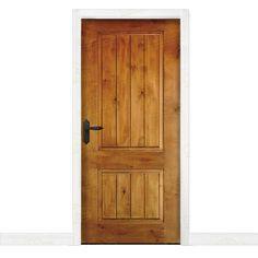 Puerta Interior rústica en madera maciza de pino modelo Pm-1099